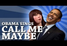 Obama spieva Call Me Maybe